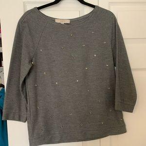 LOFT rhinestone sweatshirt